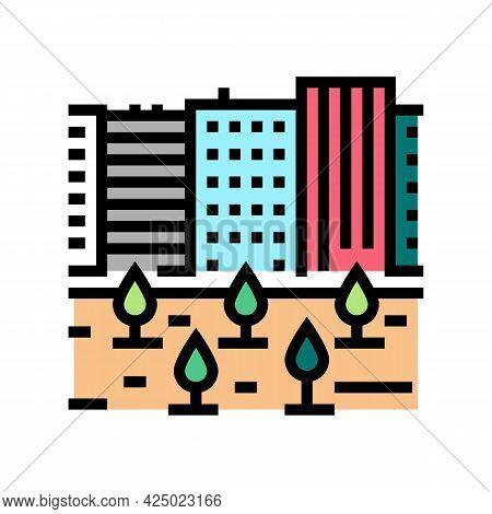 Urban Garden Color Icon Vector. Urban Garden Sign. Isolated Symbol Illustration