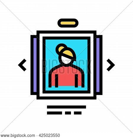 Photo List Adoption Color Icon Vector. Photo List Adoption Sign. Isolated Symbol Illustration