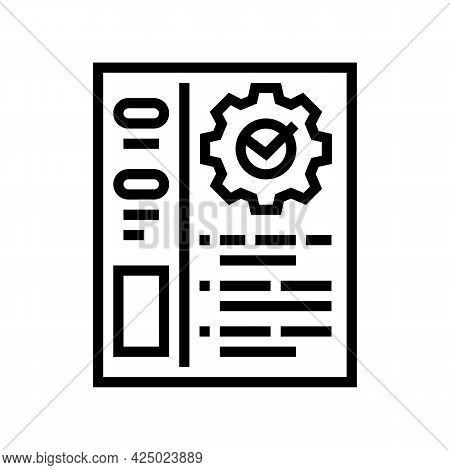 Optimization Of Accounting Line Icon Vector. Optimization Of Accounting Sign. Isolated Contour Symbo