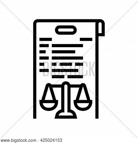 Due Diligence Line Icon Vector. Due Diligence Sign. Isolated Contour Symbol Black Illustration