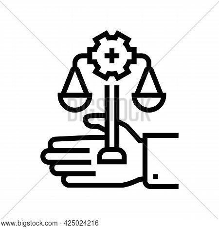 Assistance In Compliance With Regulatory Requirements Line Icon Vector. Assistance In Compliance Wit