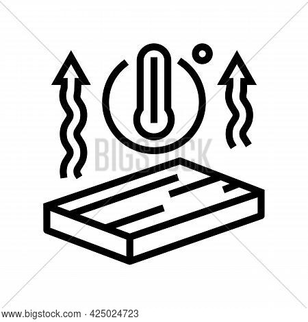 Thermal Insulation Mineral Wool Line Icon Vector. Thermal Insulation Mineral Wool Sign. Isolated Con