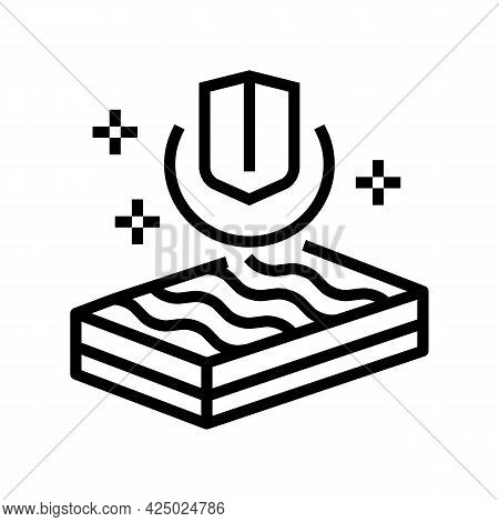 Strength Mineral Wool Line Icon Vector. Strength Mineral Wool Sign. Isolated Contour Symbol Black Il