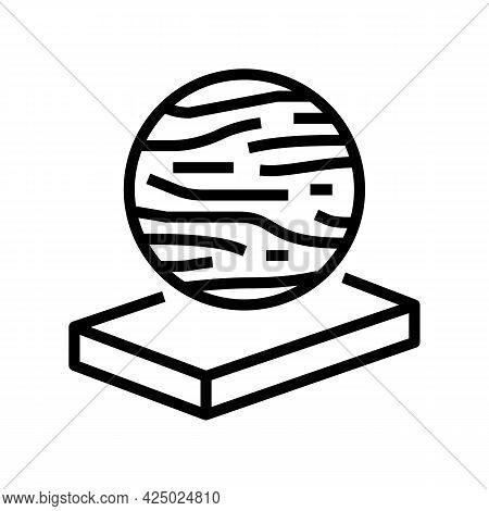 Basalt Mineral Wool Line Icon Vector. Basalt Mineral Wool Sign. Isolated Contour Symbol Black Illust
