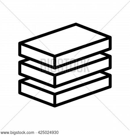 Plate Mineral Wool Line Icon Vector. Plate Mineral Wool Sign. Isolated Contour Symbol Black Illustra
