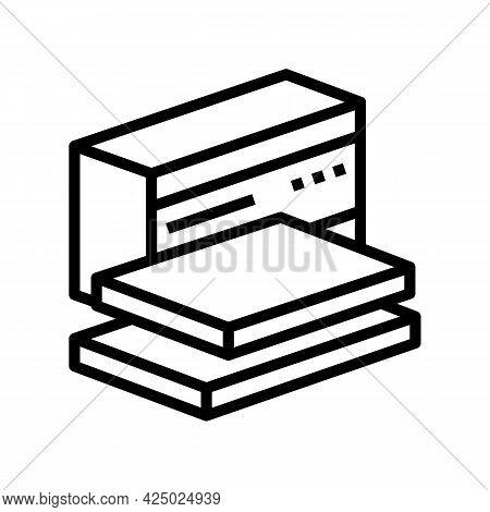 Packaging Mineral Wool Line Icon Vector. Packaging Mineral Wool Sign. Isolated Contour Symbol Black