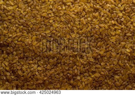 Background From Bulgur. Background From The Food. Raw Bulgur. Groats