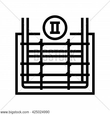 Secondary Reinforcement Line Icon Vector. Secondary Reinforcement Sign. Isolated Contour Symbol Blac