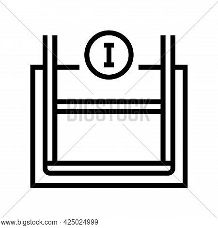 Primary Reinforcement Line Icon Vector. Primary Reinforcement Sign. Isolated Contour Symbol Black Il