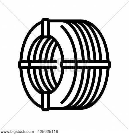 Wire Reinforcement Line Icon Vector. Wire Reinforcement Sign. Isolated Contour Symbol Black Illustra