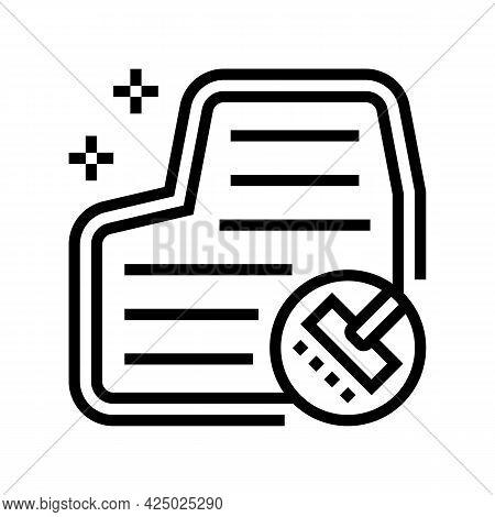 Car Carpet Washing Line Icon Vector. Car Carpet Washing Sign. Isolated Contour Symbol Black Illustra