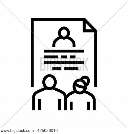 Foster Family Stories Line Icon Vector. Foster Family Stories Sign. Isolated Contour Symbol Black Il