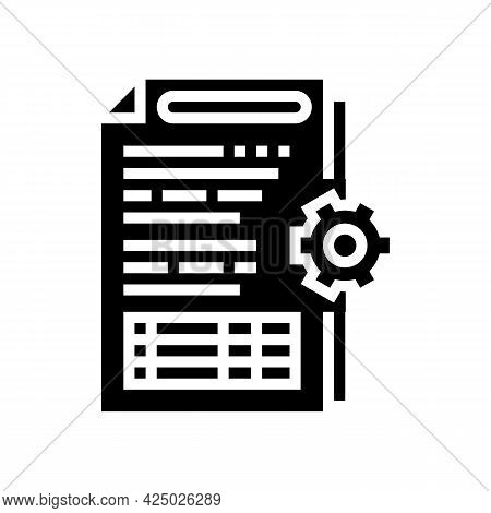 Audit Of Operational Processes And Internal Control Systems Glyph Icon Vector. Audit Of Operational