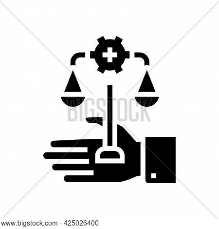 Assistance In Compliance With Regulatory Requirements Glyph Icon Vector. Assistance In Compliance Wi