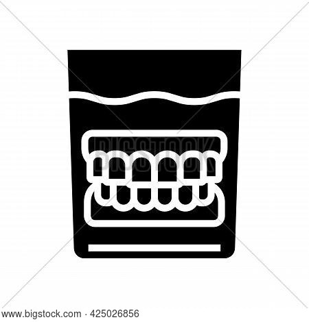False Jaw In Glass Glyph Icon Vector. False Jaw In Glass Sign. Isolated Contour Symbol Black Illustr