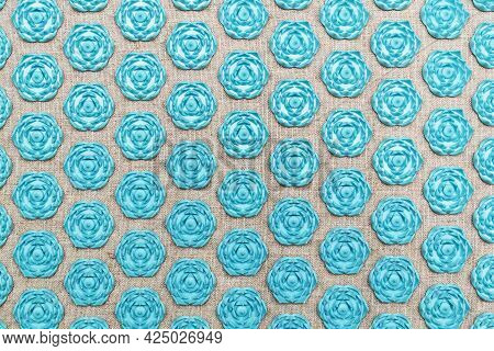 Texture From The Therapeutic Massage Mat. Sharp Hexagons.