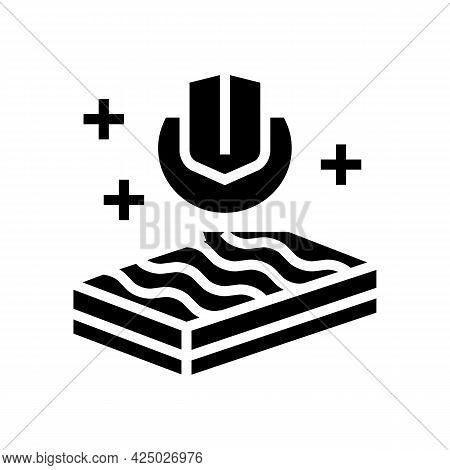 Strength Mineral Wool Glyph Icon Vector. Strength Mineral Wool Sign. Isolated Contour Symbol Black I