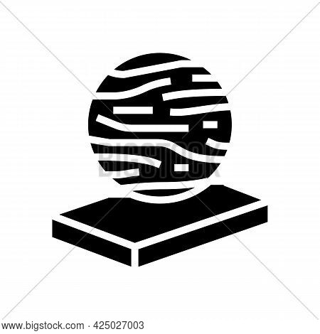 Basalt Mineral Wool Glyph Icon Vector. Basalt Mineral Wool Sign. Isolated Contour Symbol Black Illus