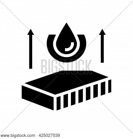 Hydrophobicity Mineral Wool Glyph Icon Vector. Hydrophobicity Mineral Wool Sign. Isolated Contour Sy