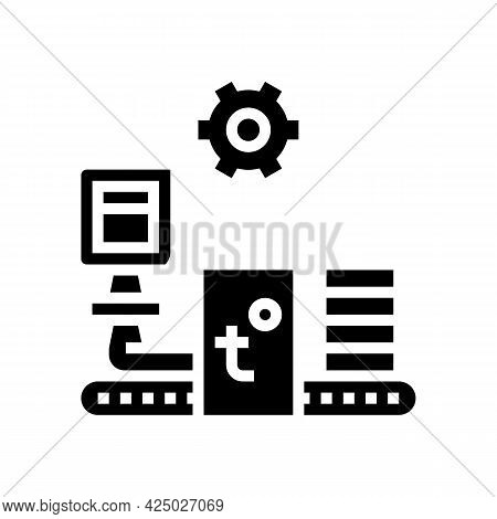 Production Mineral Wool Glyph Icon Vector. Production Mineral Wool Sign. Isolated Contour Symbol Bla