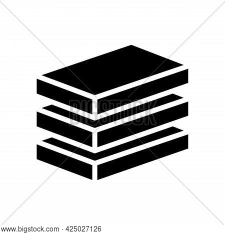 Plate Mineral Wool Glyph Icon Vector. Plate Mineral Wool Sign. Isolated Contour Symbol Black Illustr