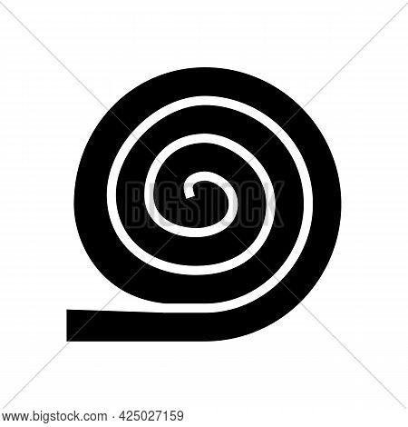 Roll Of Mineral Wool Glyph Icon Vector. Roll Of Mineral Wool Sign. Isolated Contour Symbol Black Ill