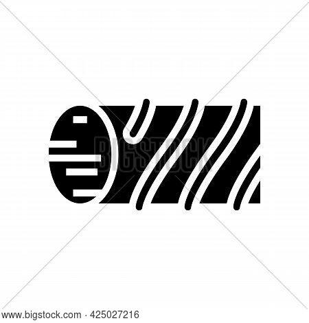 Fiberglass Reinforcement Glyph Icon Vector. Fiberglass Reinforcement Sign. Isolated Contour Symbol B