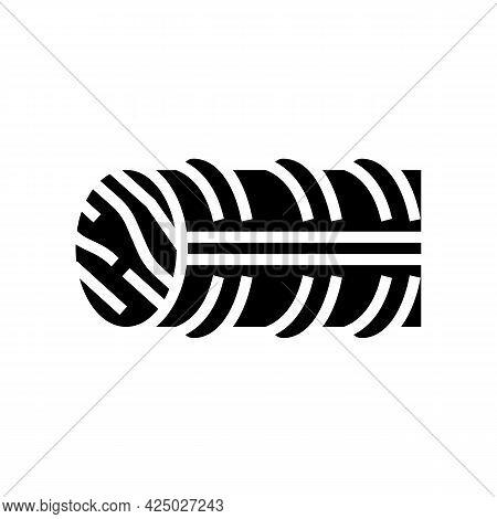 Basalt Rebar Glyph Icon Vector. Basalt Rebar Sign. Isolated Contour Symbol Black Illustration