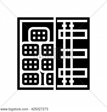 Container Transportation Rebar Glyph Icon Vector. Container Transportation Rebar Sign. Isolated Cont