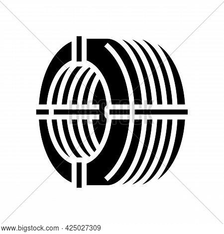 Wire Reinforcement Glyph Icon Vector. Wire Reinforcement Sign. Isolated Contour Symbol Black Illustr