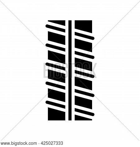 Metal Rebar Glyph Icon Vector. Metal Rebar Sign. Isolated Contour Symbol Black Illustration