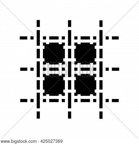 Welded Wire Mesh Wwf Glyph Icon Vector. Welded Wire Mesh Wwf Sign. Isolated Contour Symbol Black Ill