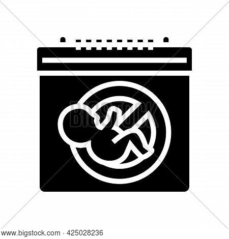 Unplanned Pregnancy Glyph Icon Vector. Unplanned Pregnancy Sign. Isolated Contour Symbol Black Illus
