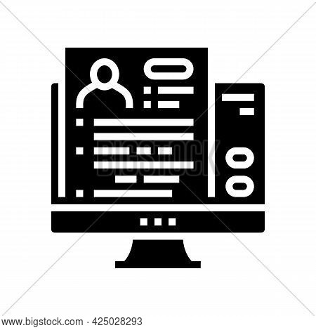 Apply Online Adoption Glyph Icon Vector. Apply Online Adoption Sign. Isolated Contour Symbol Black I