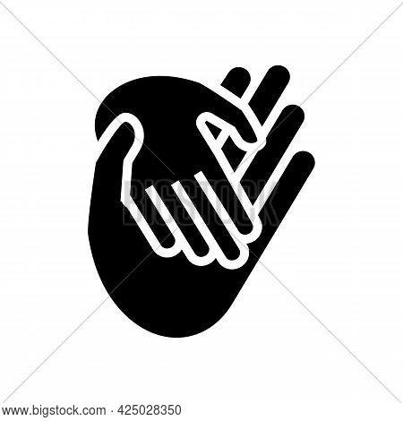Child Care Adoption Glyph Icon Vector. Child Care Adoption Sign. Isolated Contour Symbol Black Illus