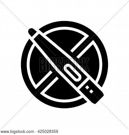 Infertility Problem Glyph Icon Vector. Infertility Problem Sign. Isolated Contour Symbol Black Illus