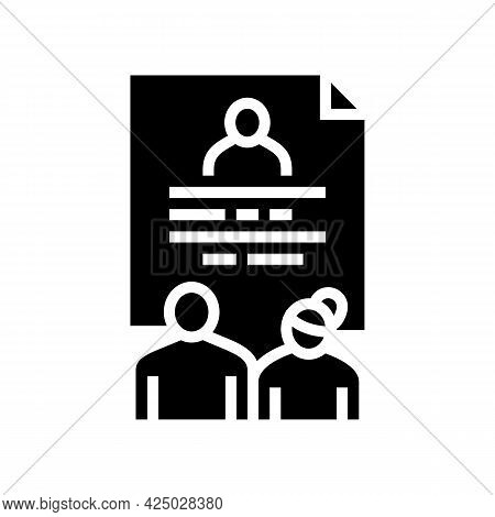 Foster Family Stories Glyph Icon Vector. Foster Family Stories Sign. Isolated Contour Symbol Black I