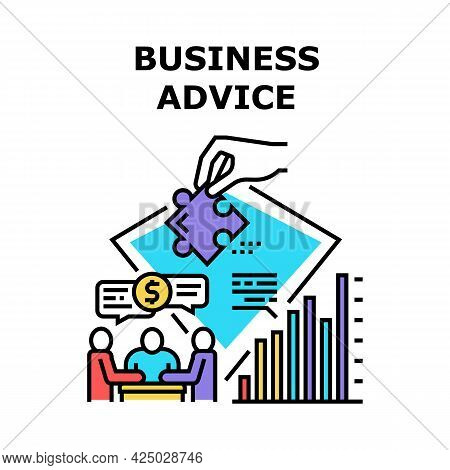 Business Advice Vector Icon Concept. Business Advice And Consultation With Advisor Or Lawyer. Profes