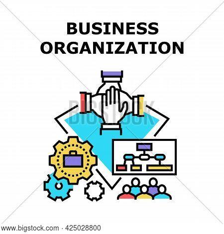 Business Organization Plan Vector Icon Concept. Business Organization Working Process And Management