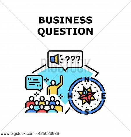 Business Question And Answer Vector Icon Concept. Business Question And Answer On Educational Traini