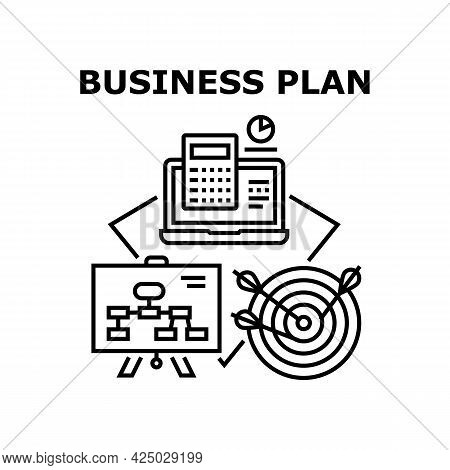 Business Plan Vector Icon Concept. Business Plan And Strategy Company Development And Goal Achieveme