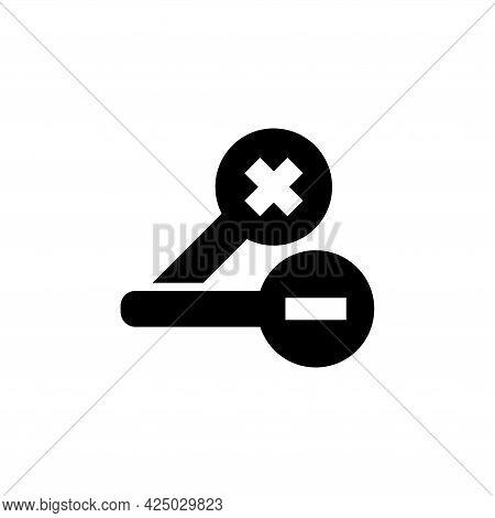 Ophthalmology Test, Dioptre Eyesight. Flat Vector Icon Illustration. Simple Black Symbol On White Ba