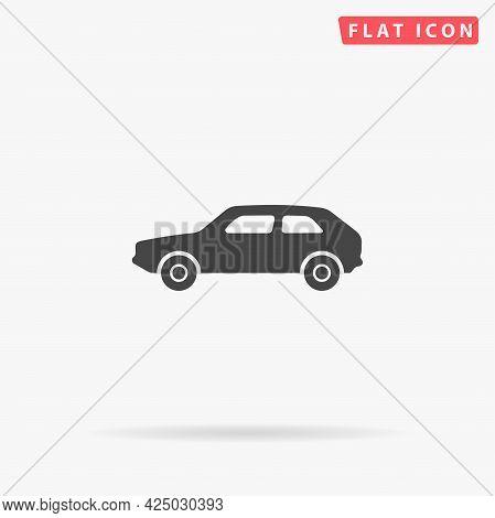 Hatchback Car Flat Vector Icon. Hand Drawn Style Design Illustrations.