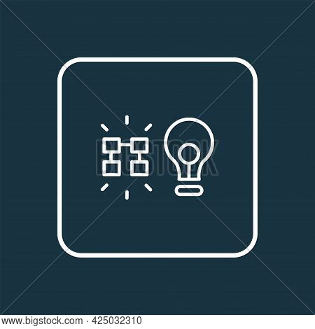 Data Insight Icon Line Symbol. Premium Quality Isolated Solution Element In Trendy Style.