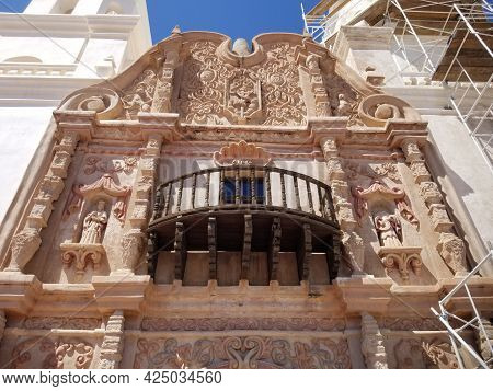 Front Balcony Of San Xavier Del Bac Mission, Tucson
