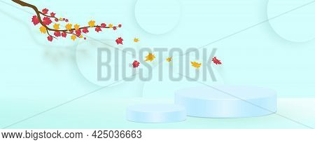 Abstract Composition, Yellow Leaves Theme, Leaflet Background, Autumn Events Flyer, Natural Print, E