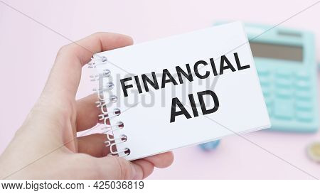 Business Woman Showing A Post-financial Aid, Concept Financial