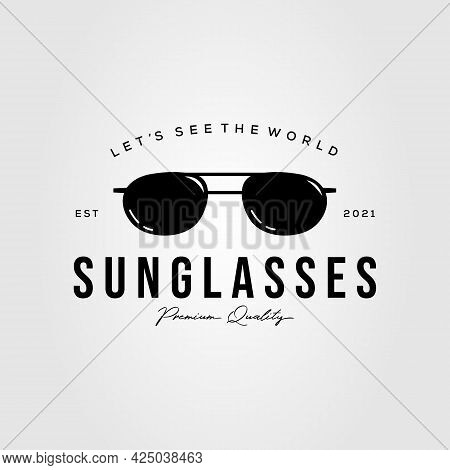 Spectacles Optic Glasses Logo. Eyeglass Sunglasses Symbol Vector Illustration Design
