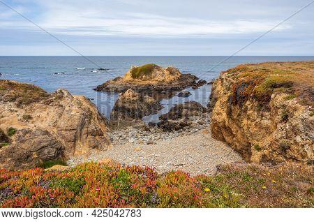 Scenic Coastal Landscape In Mackerricher State Marine Conservation Area Near Fort Bragg, California