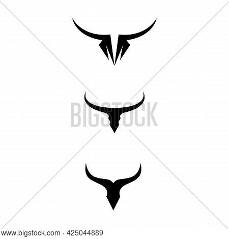 Bull Horn And Buffalo Logo And Mammals Symbols Template Icons App